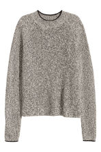 Knitted jumper - Black/White marl - Ladies | H&M 2