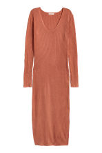 Long ribbed dress - Rust - Ladies | H&M 2