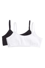 2-pack crop tops - Black - Kids | H&M 1