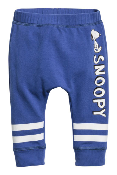 Jersey trousers - Cornflower blue/Snoopy - Kids | H&M