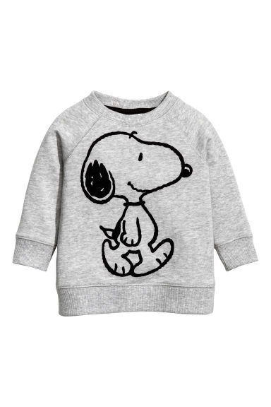 Printed sweatshirt - Grey/Snoopy - Kids | H&M 1