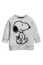Printed sweatshirt - Grey/Snoopy - Kids | H&M CN 1