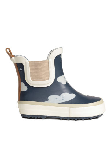 Patterned wellingtons - Dark blue/Cloud - Kids | H&M 1