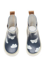 Patterned wellingtons - Dark blue/Cloud - Kids | H&M 2