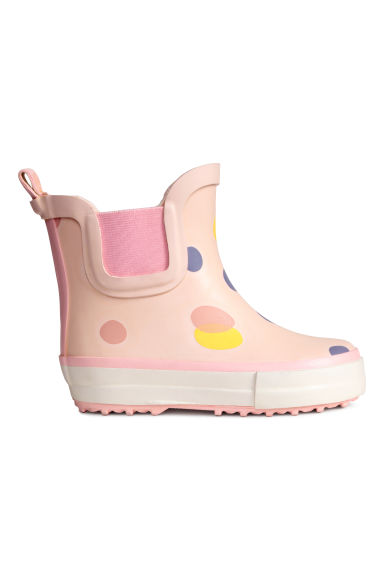 Patterned wellingtons - Light pink/Spotted -  | H&M 1
