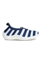 Water shoes - Dark blue/Striped -  | H&M 1