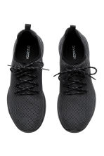 Mesh trainers - Black marl - Men | H&M 2