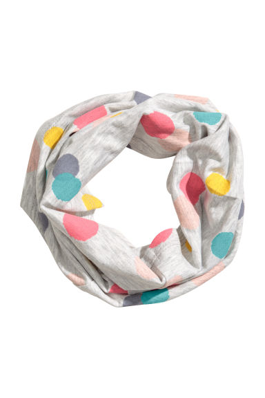 Spotted tube scarf - Light grey/Spotted - Kids | H&M CN