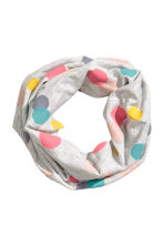 Spotted tube scarf - Light grey/Spotted - Kids | H&M CN 1