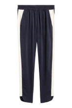 Pull-on trousers - Dark blue/White - Ladies | H&M 2