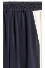 Pull-on trousers - Dark blue/White - Ladies | H&M 3