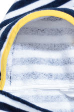 Hooded towel - Dark blue/Striped - Home All | H&M 2