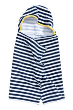 Hooded towel - Dark blue/Striped - Home All | H&M 1