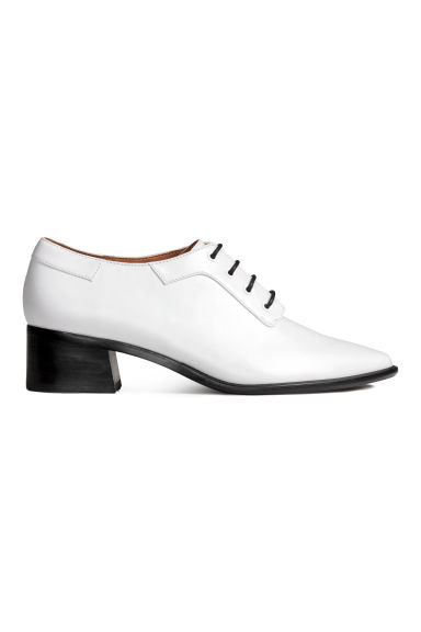 Heeled Derby shoes - White - Ladies | H&M 1