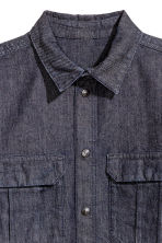 Denim shirt - Dark denim blue - Men | H&M 3