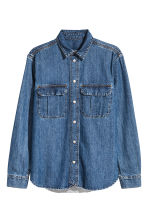 Denim shirt - Denim blue - Men | H&M CN 2
