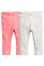 2-pack leggings - Pink - Kids | H&M 1