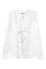 Ruffled blouse - White - Ladies | H&M CN 2