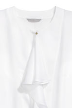Ruffled blouse - White - Ladies | H&M CN 3