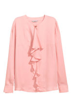 Ruffled blouse - Light pink - Ladies | H&M CN 2