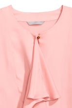 Ruffled blouse - Light pink - Ladies | H&M CN 3
