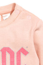 Printed sweatshirt - Powder pink AC/DC - Kids | H&M CN 2