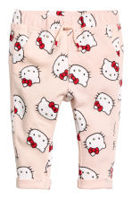 Patterned joggers - Light pink/Hello Kitty -  | H&M 1