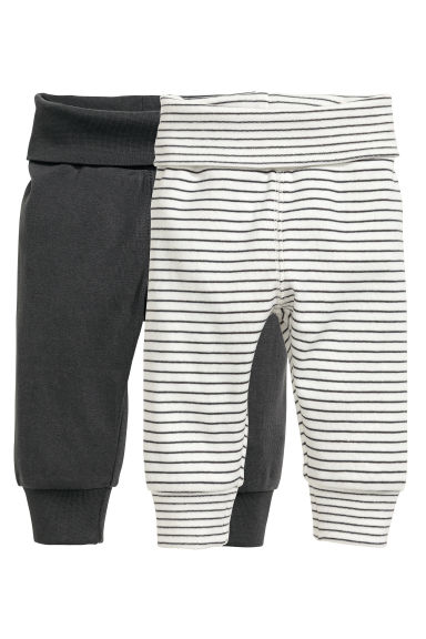 2-pack jersey trousers - Dark grey - Kids | H&M CN 1