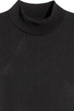 Fine-knit polo-neck jumper - Black -  | H&M 3