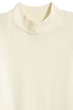 Fine-knit polo-neck jumper - Natural white - Ladies | H&M 3