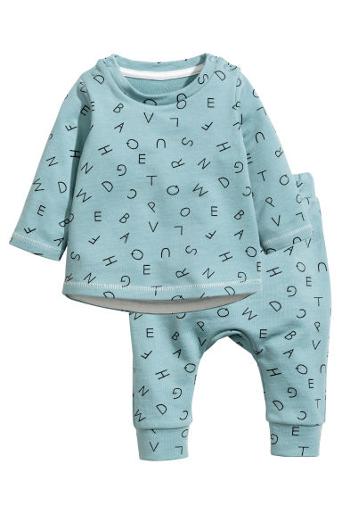 Top and trousers - Light petrol - Kids | H&M CN 1