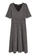 Short-sleeved dress - Black/White/Patterned - Ladies | H&M 2