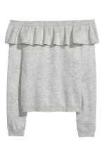 Off-the-shoulder jumper - Grey marl - Ladies | H&M 2