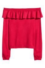 Off-the-shoulder jumper - Red - Ladies | H&M CN 2