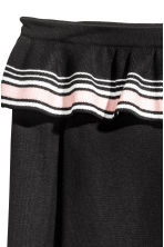 Off-the-shoulder jumper - Black/Striped - Ladies | H&M 3