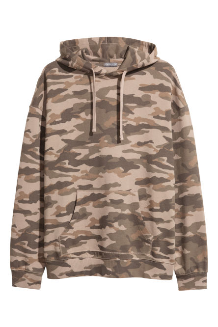 Patterned hooded top