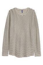 Loose-knit jumper - Light beige/Striped - Men | H&M 2
