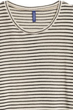 Loose-knit jumper - Light beige/Striped - Men | H&M CN 3