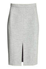 Pencil skirt - Light grey marl - Ladies | H&M CN 2