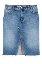 Denim skirt - Denim blue - Ladies | H&M GB