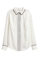 Long-sleeved blouse - White - Ladies | H&M CN 2