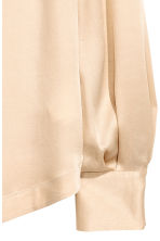 Long-sleeved blouse - Light beige - Ladies | H&M CN 3