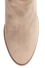 Suede knee-high boots - Light beige - Ladies | H&M 3