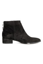 Suede ankle boots - Black - Ladies | H&M 1