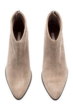 Suede ankle boots - Light beige - Ladies | H&M 2