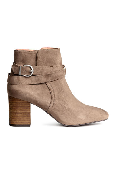 Ankle boots - Khaki beige - Ladies | H&M 1