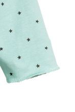 Printed all-in-one pyjamas - Mint green/Stars -  | H&M 2