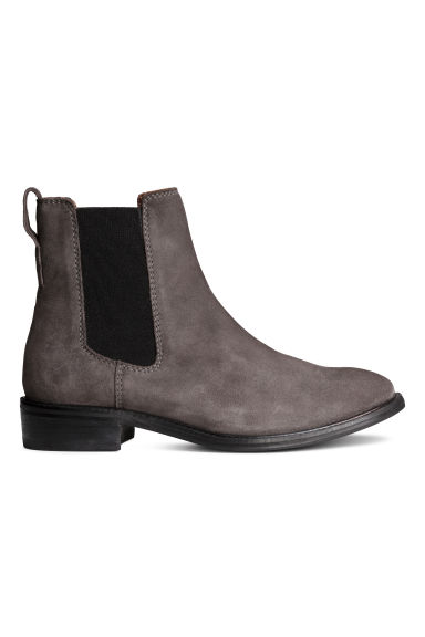 Suede Chelsea boots - Dark grey - Ladies | H&M 1