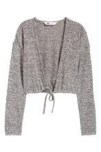 Cropped cardigan - Grey marl - Kids | H&M CN 2