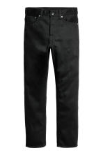 Straight Regular Jeans - Black/No fade black - Men | H&M 2